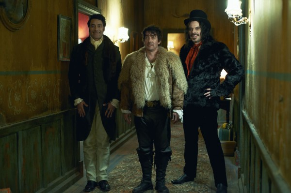 """Taika Waititi, Jonathan Brugh and Jemaine Clement in """"What We Do in the Shadows"""""""