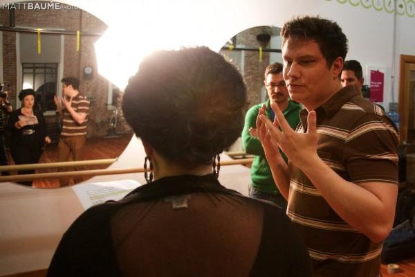 Mr. Hurley directing his Diva, Miss Rudinoff.  Photo: Matt Baume
