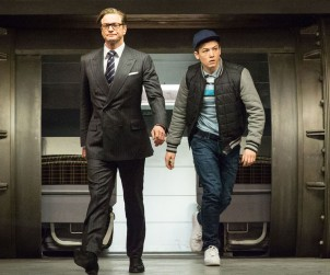 """Colin Firth and Taron Egerton in """"Kingsman: The Secret Service"""""""