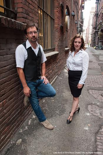 """Terry Podgorski and Erin Brindley are the producers and creators of """"Café Nordo"""" the clever dinner cabaret and theater show that now has a permanent home in Seattle's Pioneer Square. Photo by Bruce Tom."""