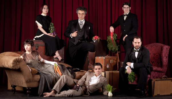 """The cast of """"The Cabinet of Curiosities"""" the magical dinner theater piece at Washington Hall. Photo: John Cornicello"""