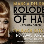 Yes! Bianca Del Rio returns to Seattle for a BIG show in a BIG venue (The Egyptian) for Pride Week (Thursday June 25th!!)