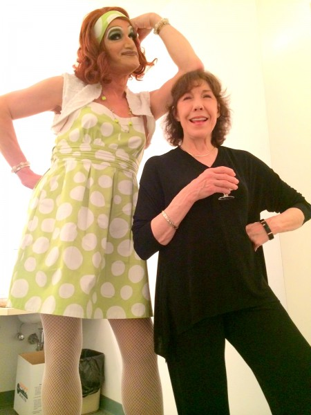 """Mark """"Mom"""" Finley, picture here with longtime friend, actress Lily Tomlin."""