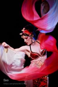 Burlesque performer Seraphina Fiero