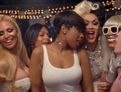 Jennifer Hudson's new Marriage Equality song and video are ADORBS! (note: Manila Luzon in back...)