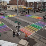 Make a Rainbow Connection at Pike & Broadway as Rainbow Crosswalks are unveiled this Tuesday, June 23, 2015!  Photo: SoSea Rainbow Crosswalk Project