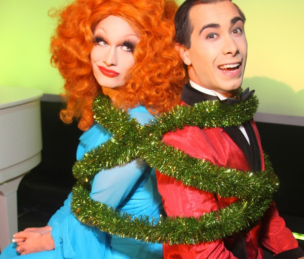 Jinkx Monsoon and Major Scales star in Jinkx Monsoon & Major Scales: Unwrapped at Seattle Rep this Nov/Dec 2015. (© J. Casertano)