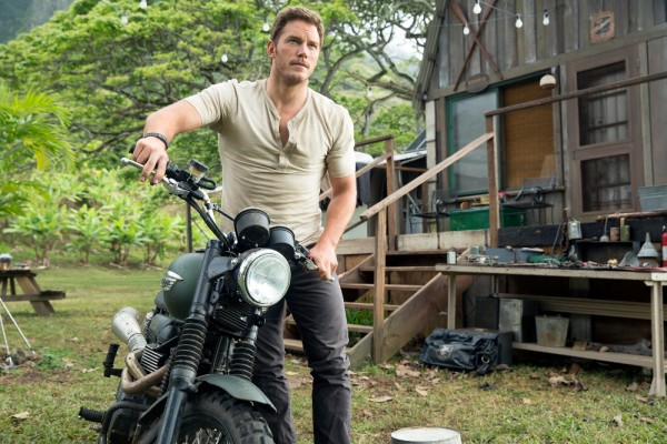 """Chris Pratt in a scene from the trailer for the motion picture """"Jurassic World."""" CREDIT: Chuck Zlotnick, Universal Pictures"""