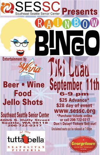 Rainbow Bingo Tiki Luau with Sylvia O'Stayformore!Seattle