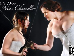 """Sophie Franzella and Tracy Leigh star in """"My Dear Miss Chancellor"""" by Caitlin Gilman now onstage at Annex Theatre. Photo: Joe Iano"""