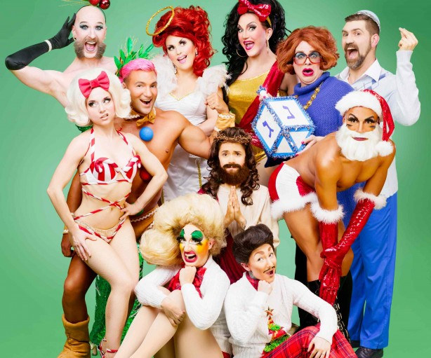 """Cast of Homo for the Holidays in """"happier"""" times. Photo: JiJi Lee"""