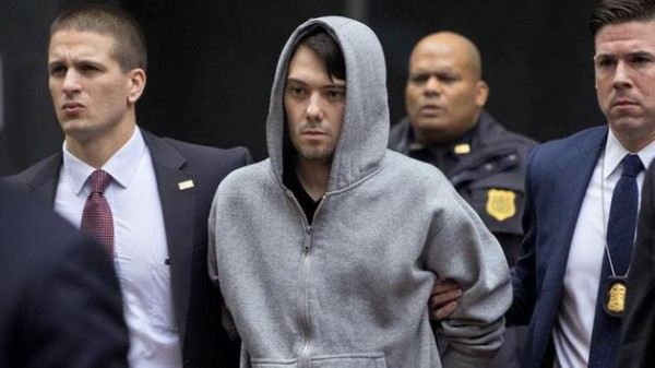 Martin Shkreli, the much hated owner of Turing Pharmaceuticals was arrested in New York today for securities fraud. AP Photo/Craig Ruttle
