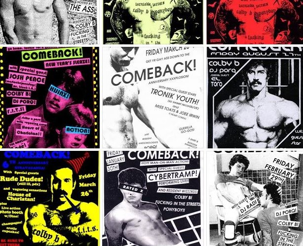 The iconic Comeback posters designed by Marcus Wilson.