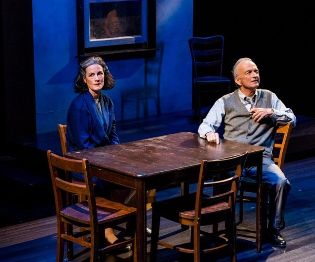 """Eleanor Moseley and David Pichette in Arthur Miller's """"Death of a Salesman"""". Photo by Michael Brunk"""