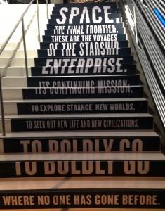 Stairs to the Star Trek exhibit at EMP. Photo: Korra Q