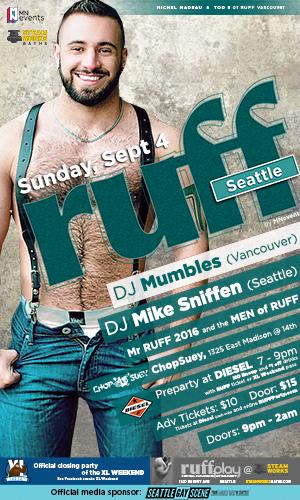 Ruff XL Seattle Sept 4 Seattle Gay scene