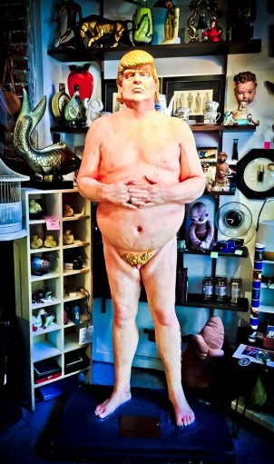 Seattle's Emperor Trump is now residing at the vintage shop, No Parking on Capitol Hill's Pike Street off of 11th Avenue. Photo: Via No Parking's FB page