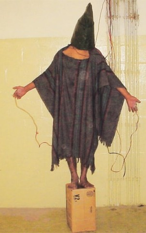 Ali Shallal al Qaisi is the name behind the mask of this iconic image from the Abu Ghraib prison abuse scandal.