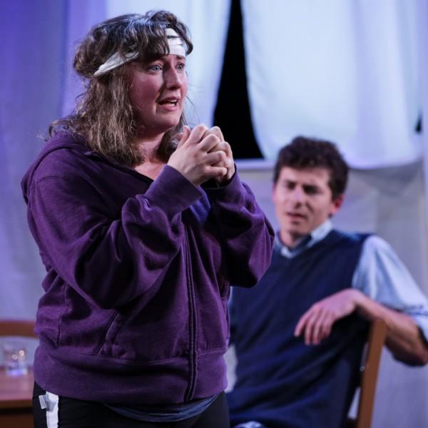 "Carol Louise Thompson and Conner Neddersen in Strawberry Theatre Workshop's ""Rhinoceros"" onstage through October 8, 2016. Photo: John Ulman"