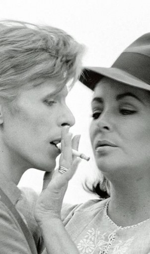 Close-up: Bowie and Taylor. Photo: Terry O'Neill