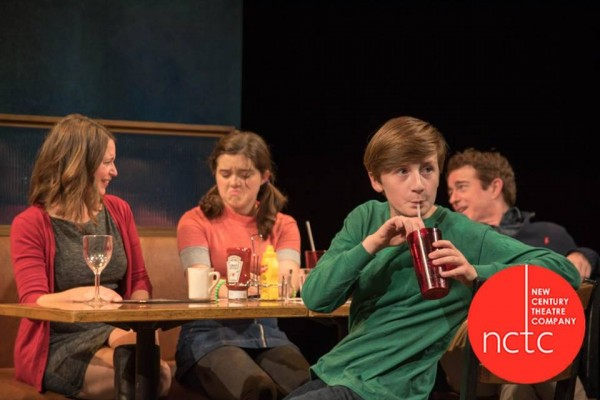 The nuclear family in New Century Theatre Company's THE BIG MEAL.... Betsy Schwartz, Maire Kennan, Julian Mudge-Burns, Darragh Kennan. Photo:  Christopher Monsos