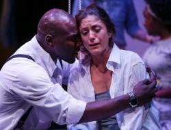 Sylvester Foday Kamara and Alex Tavares in Seattle Shakespeare Company's production of MEDEA. Photo by John Ulman.