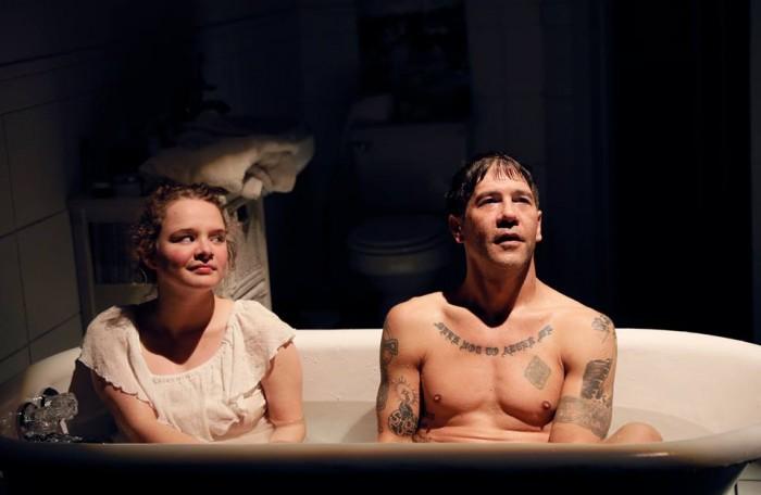 "Rebecca Love and Tim Gouran in ""Every Five Minutes"" at Washington Ensemble Theatre. Photo: Chris Bennion"