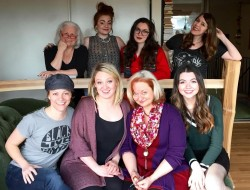 Back Row: Suzy Hunt, Sara Henley-Hicks, Cassi Q. Kohl, Angie Louise Front Row: Katherine Strohmaier, Molli Corcoran, Bobby Kotula, Erin Hyatt. Photo: Showtunes Theatre