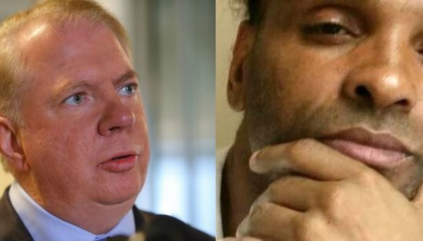Seattle Mayor Ed Murray and the man accusing him of sexual assault, Delvonn Heckard.