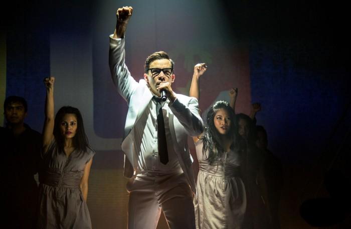 Conrad Ricamora stars as Ninoy Aquino in HERE LIES LOVE at Seattle Repertory Theatre through June
