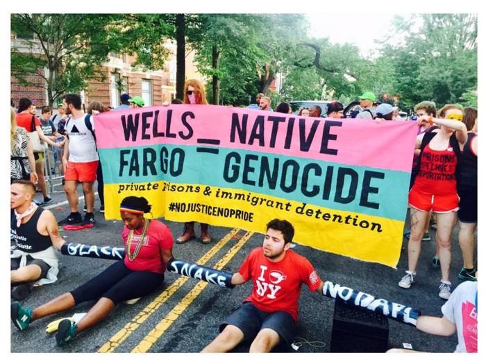 No Justice No Pride protesters shut down Capital Pride in Washington D.C. earlier this month.