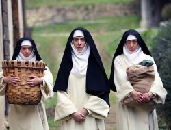 Kate Micucci, Alison Brie and Aubrey Plaza are foul mouthed horny 14th century Italian nuns in the film comedy, THE LITTLE HOURS now playing at SIFF at The Uptown
