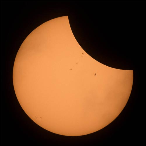 Photo taken by NASA photographer Joel Kowsky