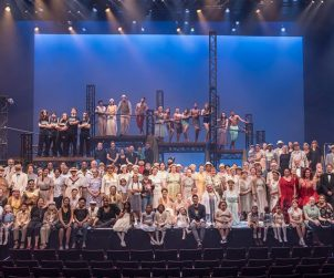 The huge cast and team behind Seattle Rep and Public Works Seattle's production of THE ODYSSEY