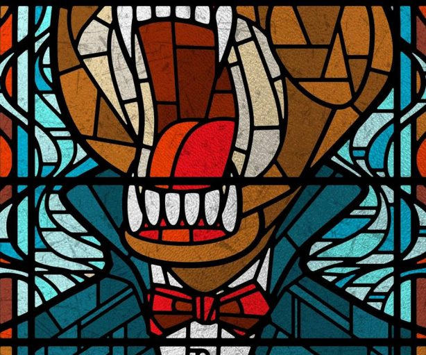 """""""Sneak peek at one of the features in our upcoming Scared to Death: The Thrill of Horror Film exhibit: our friends the Ames Bros designed some killer graphics for our vampire chapel! These are close crops of their designs; we can't wait to show you the finished pieces inside the exhibit..."""" Courtesy of MoPOP"""