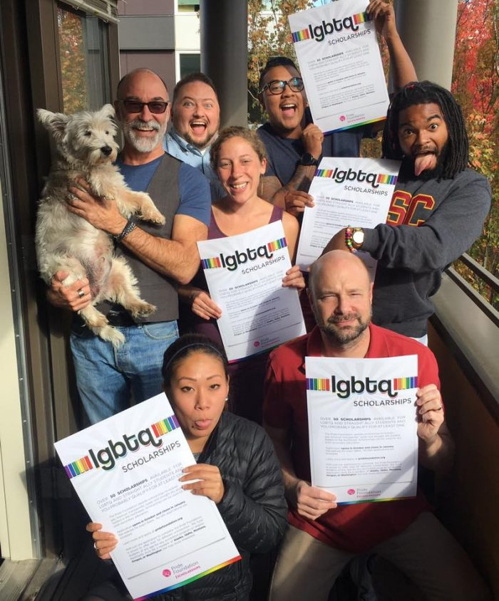 The GSBA and Pride Foundation team up to make applying for LGBTQ scholarships for the Pacific NW a breeze. Photo via Pride Foundation