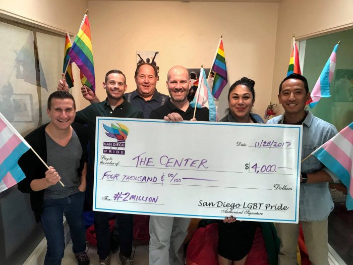 San Diego Pride donates excess funds to local non-profits serving their community.