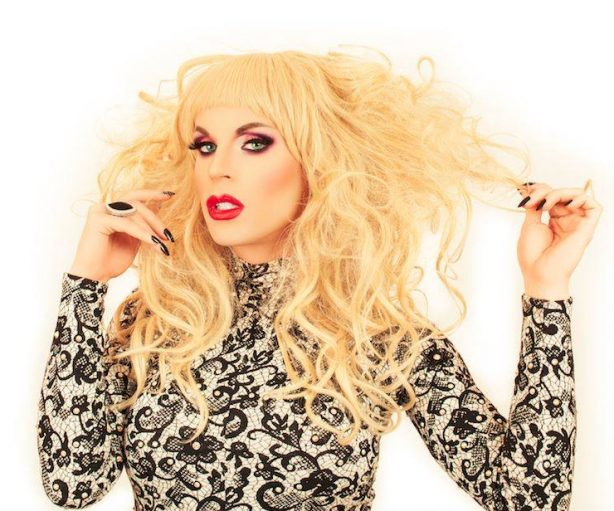 Drag Star Katya seems to be having a public meltdown.   Photo by Sean Johnson (http://www.seanmjohnson.com/katya/)