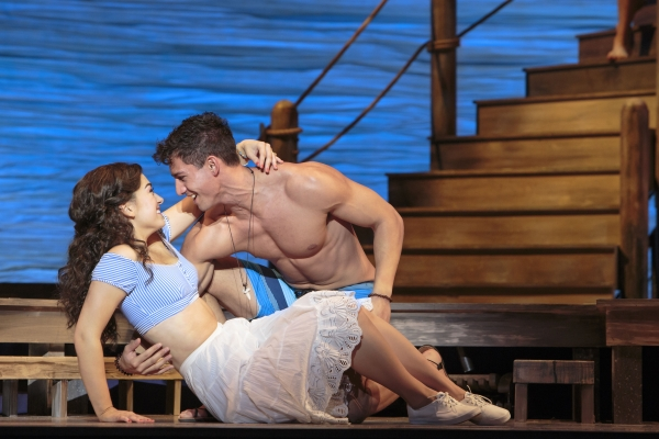 Eliza Palasz as Sophie Sheridan and Jordan Iosua Taylor as Sky in Mamma Mia! - Photo Credit Tracy Martin