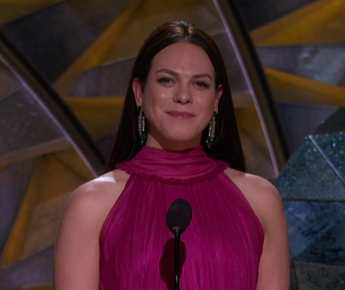 """Daniela Vega becomes the first out transgender presenter at the Oscars. Her film, """"A Fantastic Woman"""" won an Oscar for Best Foreign Language Film."""