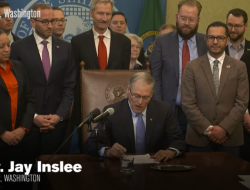 "Washington State Governor Jay Denslee signs bill into law banning ""Conversion Therapy"""