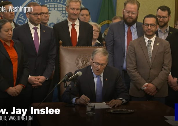 """Washington State Governor Jay Denslee signs bill into law banning """"Conversion Therapy"""""""