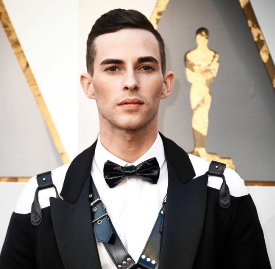 Adam Rippon in Moschino on the Oscars Red Carpet. Photo/Instagram
