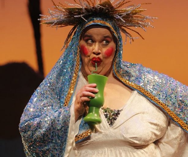 Peggy Platt as Euomi Spudd (as the Virgin Mary) in the long running hit holiday variety show Ham for the Holidays. Photo: Chris Bennion/ACT