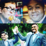 Individual Grand Marshals for the 2018 Seattle Pride Parade include Dr. Jen Self, Director of the Q Center and affiliate professor at UW;  S. Wakefield, External Relations Director for Fred Hutch's HIV Vaccine Trials Network;  Nayyef Hrebid and Btoo Allami, from Out of Iraq, A Love Story