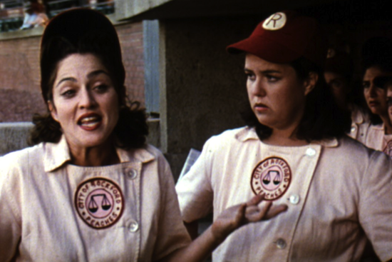 "Madonna and Rosie O'Donnell in ""A League of Their Own"""