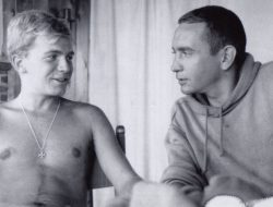 A very young Terrence McNally with fellow playwright (and lover) Edward Albee