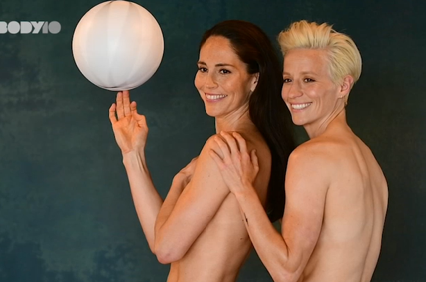 Seattle star athletes and power couple SUE BIRD and MEGAN RAPINOE in ESPN's 2018 Body Issue