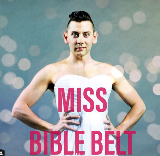 "Paul Flanagan as Miss Bible Belt in ""Pageant the Musical"" at ACT through July 8th. Photo: Nate Watters"