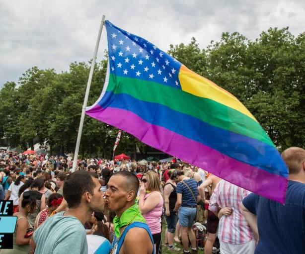 PrideFlagSeaGayScene